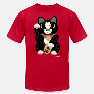 Lucky Cat Lucky Tuxedo Cat - Men's  Jersey T-Shirt