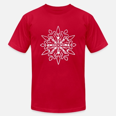 Snow Crystal Snowflakes Winter Snow crystal - Men's Jersey T-Shirt