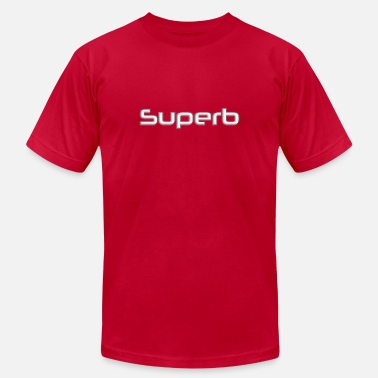 Superbe superb in white letters - Men's  Jersey T-Shirt