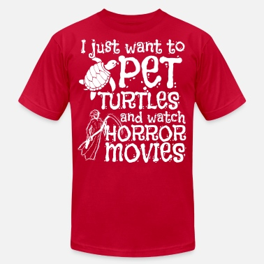 Movie Halloween Pet Watch Horror Movies Turtle - Unisex Jersey T-Shirt