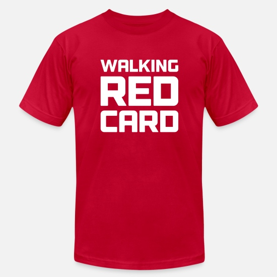 Red T-Shirts - Walking Red Card - Men's Jersey T-Shirt red