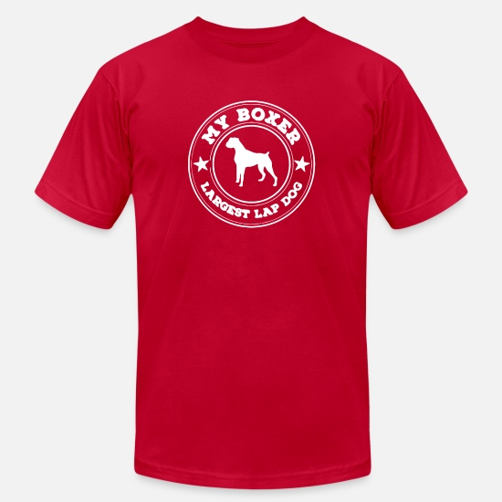 Game T-Shirts - My Boxer Is the World s Largest Lap Dog - Men's Jersey T-Shirt red