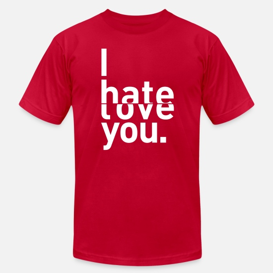 Brother T-Shirts - I hate love you couple relationship - Men's Jersey T-Shirt red