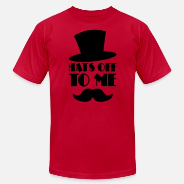 Moustache HATS OFF TO ME moustache and top hat - Unisex Jersey T-Shirt