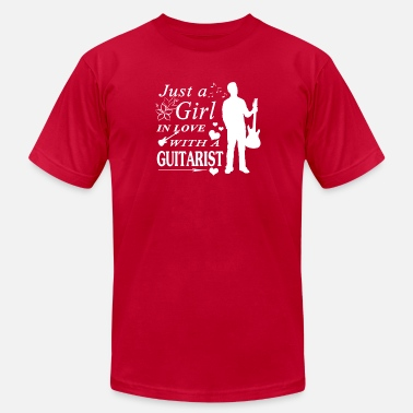 I Love Guitarist GIRL IN LOVE WITH GUITARIST SHIRT - Men's Jersey T-Shirt