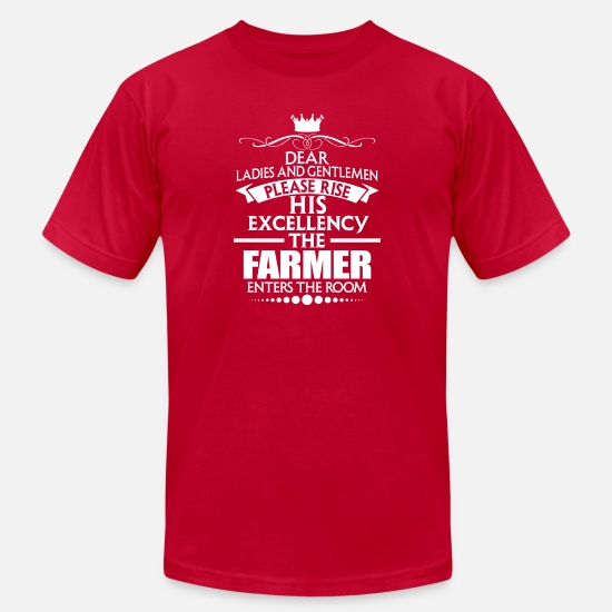 Birthday T-Shirts - FARMER - EXCELLENCY - Men's Jersey T-Shirt red