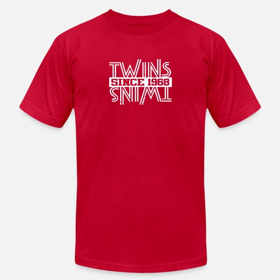 January T-Shirts - Twins Since 1968 - Men's Jersey T-Shirt red