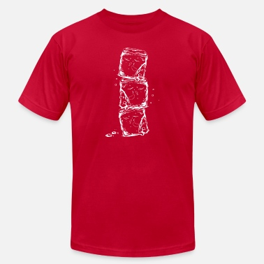 Water Ice Water splash, ice cubes and water drops. - Men's Jersey T-Shirt