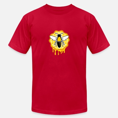 Bee Honeycomb a bee and honeycomb - Men's Jersey T-Shirt
