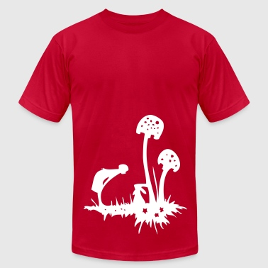 The Rabbit's Mushrooms - Men's Fine Jersey T-Shirt