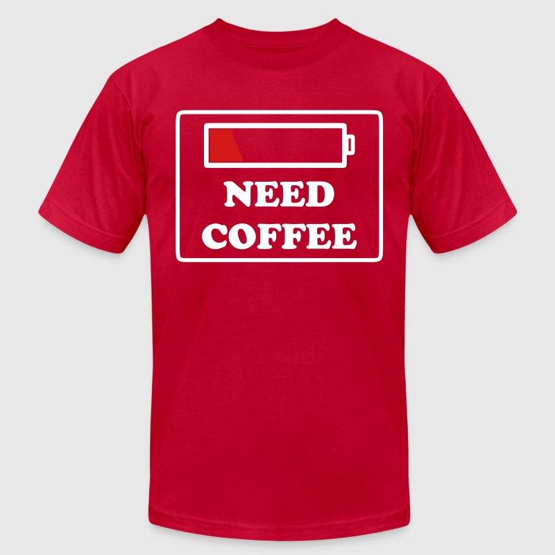 need coffee funny - Men's Fine Jersey T-Shirt