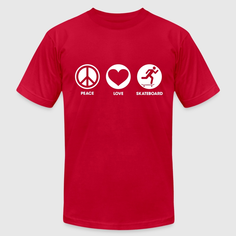 Peace Love Skateboard - Men's Fine Jersey T-Shirt