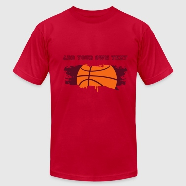 graffiti Basketball - Men's Fine Jersey T-Shirt