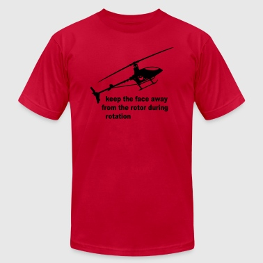 helicopter rotor warning - Men's Fine Jersey T-Shirt
