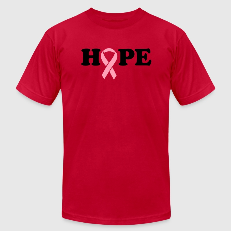 Hope. Breast Cancer Ribbon - Men's Fine Jersey T-Shirt