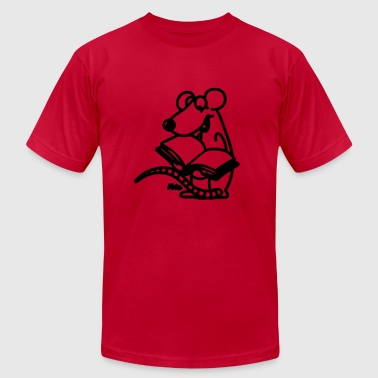 Reading Rat - Men's Fine Jersey T-Shirt