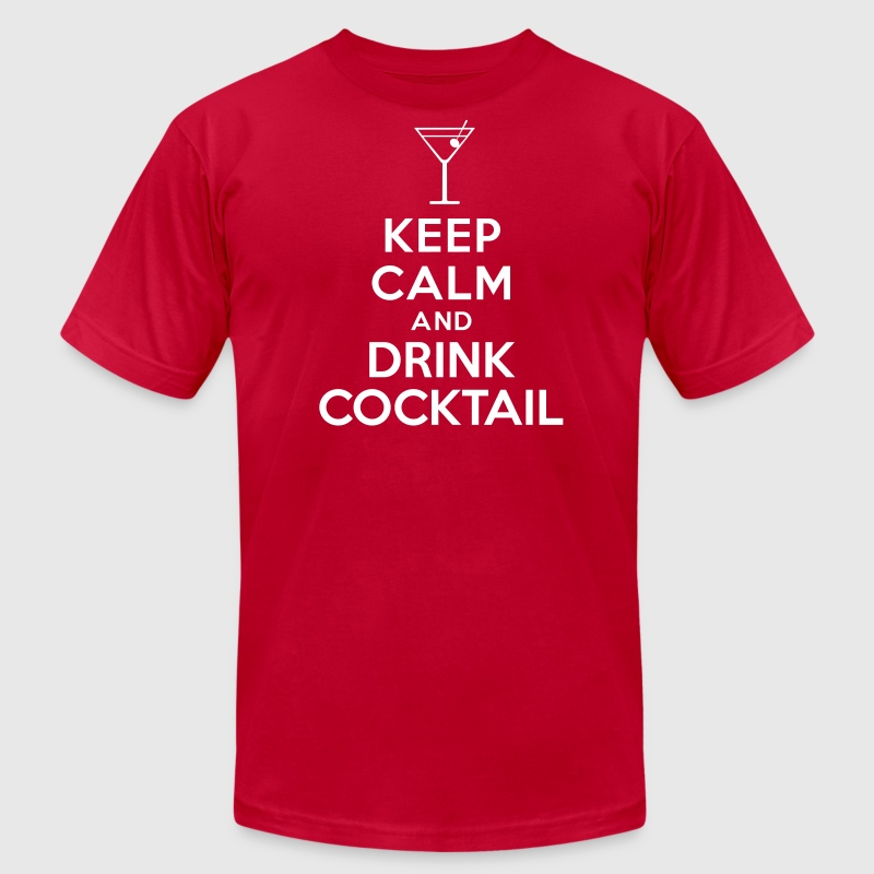 Keep calm and drink cocktail - Men's Fine Jersey T-Shirt