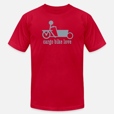 Cargo Bike Bakfiets Cargo Bike Love - Men's Jersey T-Shirt