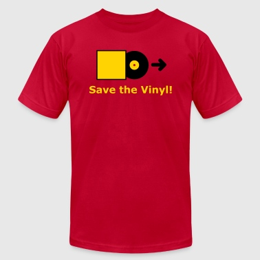 DJ - Vinyl - Save the Vinyl! - Men's Fine Jersey T-Shirt
