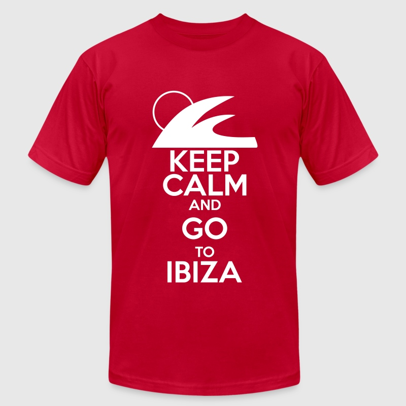keep calm and go to ibiza - Men's Fine Jersey T-Shirt