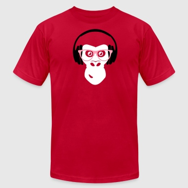 gorilla with headphones - Men's Fine Jersey T-Shirt