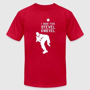 STEVEL KNIEVEL FAN SHIRT - Men's Fine Jersey T-Shirt