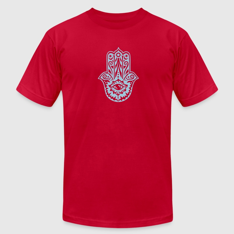 Hamsa Amulet, Hand of Fatima, Divine Protection - Men's Fine Jersey T-Shirt
