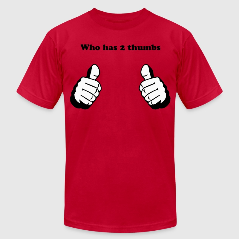 Two Thumbs Up, This Guy or Girl Custom Graphic - Men's Fine Jersey T-Shirt
