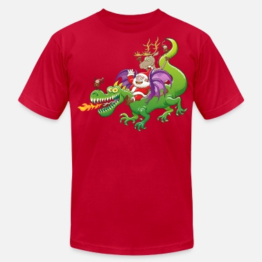 Dragon Quest Santa Claus Changed his Reindeer for a Dragon - Men's  Jersey T-Shirt