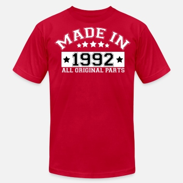 Made In 1992 All Original Parts MADE IN 1992 ALL ORIGINAL PARTS - Men's  Jersey T-Shirt