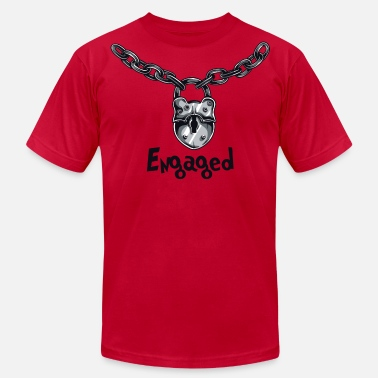 Get Engaged Engaged Engagement Announcement - Men's Fine Jersey T-Shirt