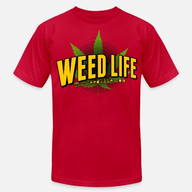 Pot Life 15 Cartoon Life - Yellow  - Men's  Jersey T-Shirt