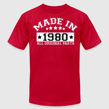 MADE IN 1980 ALL ORIGINAL PARTS - Men's Fine Jersey T-Shirt