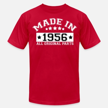 Made In 1956 All Original Parts MADE IN 1956 ALL ORIGINAL PARTS - Men's Fine Jersey T-Shirt