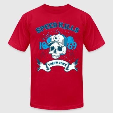 Speed Kills Throw Down - Men's Fine Jersey T-Shirt