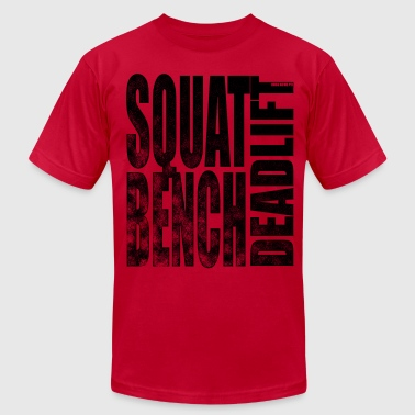 Squat Bench Deadlift Squat Bench Deadlift 2 - Men's Fine Jersey T-Shirt
