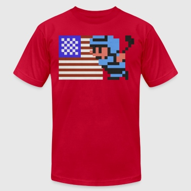 USA! USA! NES Ice Hockey shirt - Men's Fine Jersey T-Shirt