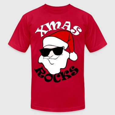 Rocking Santa Xmas Rocks - Men's Fine Jersey T-Shirt