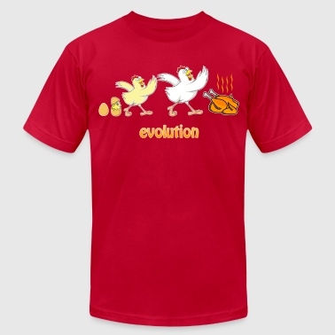 Chicken evolution - Men's Fine Jersey T-Shirt