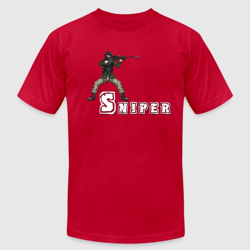 Battlefield Friends - Sniper - Men's Fine Jersey T-Shirt