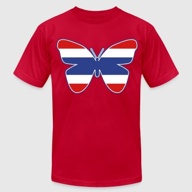 Thai Butterfly Flag Silhouette - Men's Fine Jersey T-Shirt