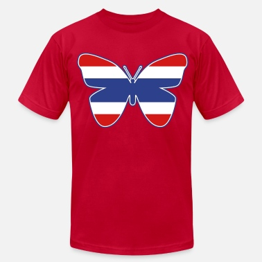 Patong Thai Butterfly Flag Silhouette - Men's  Jersey T-Shirt