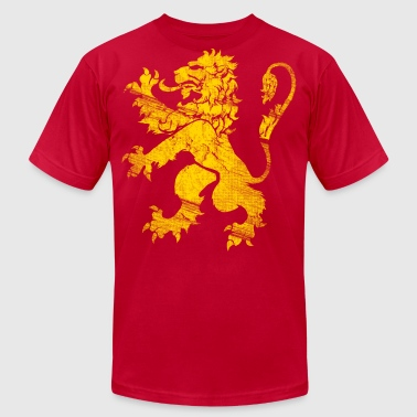 Gold Lion Rampant - Men's Fine Jersey T-Shirt