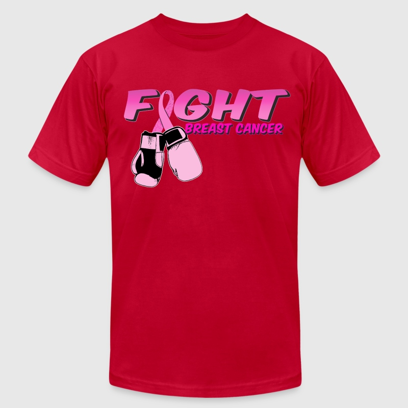 Fight Breast Cancer Pink Boxing Gloves 2 - Men's Fine Jersey T-Shirt