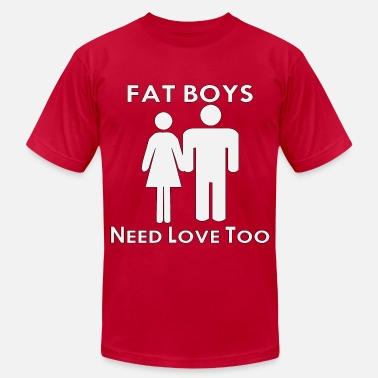 Big Fat Boy Fat Boys Need Love Too  - Men's Fine Jersey T-Shirt