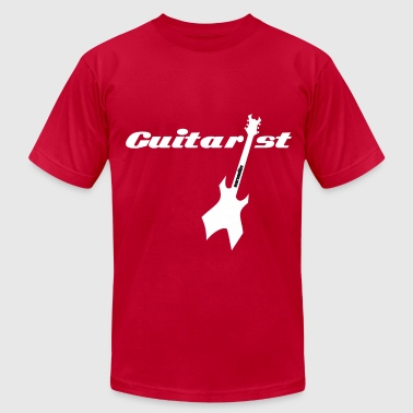 Guitarist e-Guitar white - Men's Fine Jersey T-Shirt