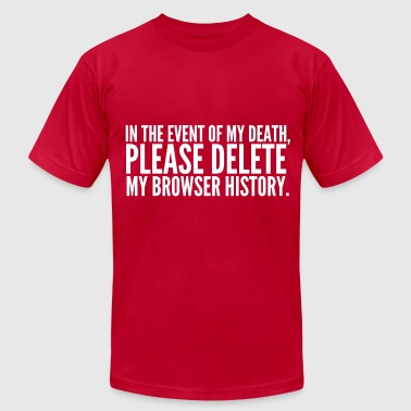 My Browser History - Men's Fine Jersey T-Shirt
