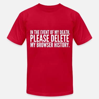 My Browser History - Men's  Jersey T-Shirt