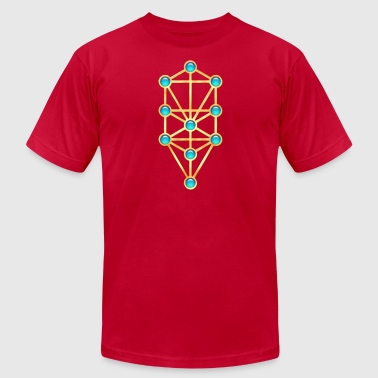 Tree of Life, Kabbalah, Sephiroth - Men's Fine Jersey T-Shirt