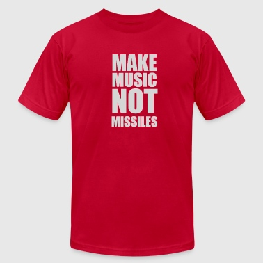 Make Music Not Missiles DJ - Men's Fine Jersey T-Shirt